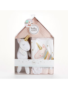 Baby Aspen Simply Enchanted Unicorn Welcome Home Gift Set