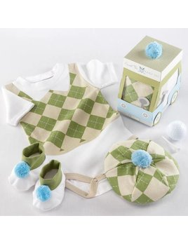 Baby Aspen Sweet Tee 3 Piece Golf Layette Set