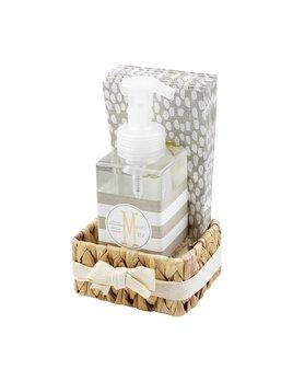 Mudpie Initial Soap & Towel Basket Set
