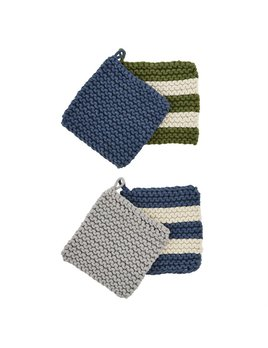 Mudpie Fall Crochet Pot Holder Set