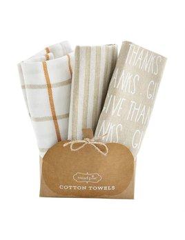 Mudpie Thanksgiving Towel Sets
