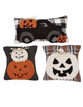Mudpie Halloween Hooked Mini Pillow
