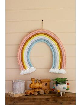 Kalalou Felt Rainbow Wall Hanging