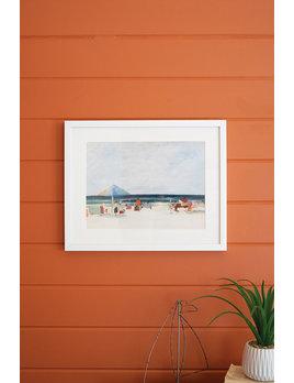 Kalalou Framed Beach Scene Under Glass - White Frame