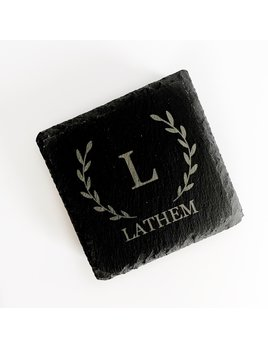 P Graham Dunn Personalized Slate Coasters - Square - Set of 4