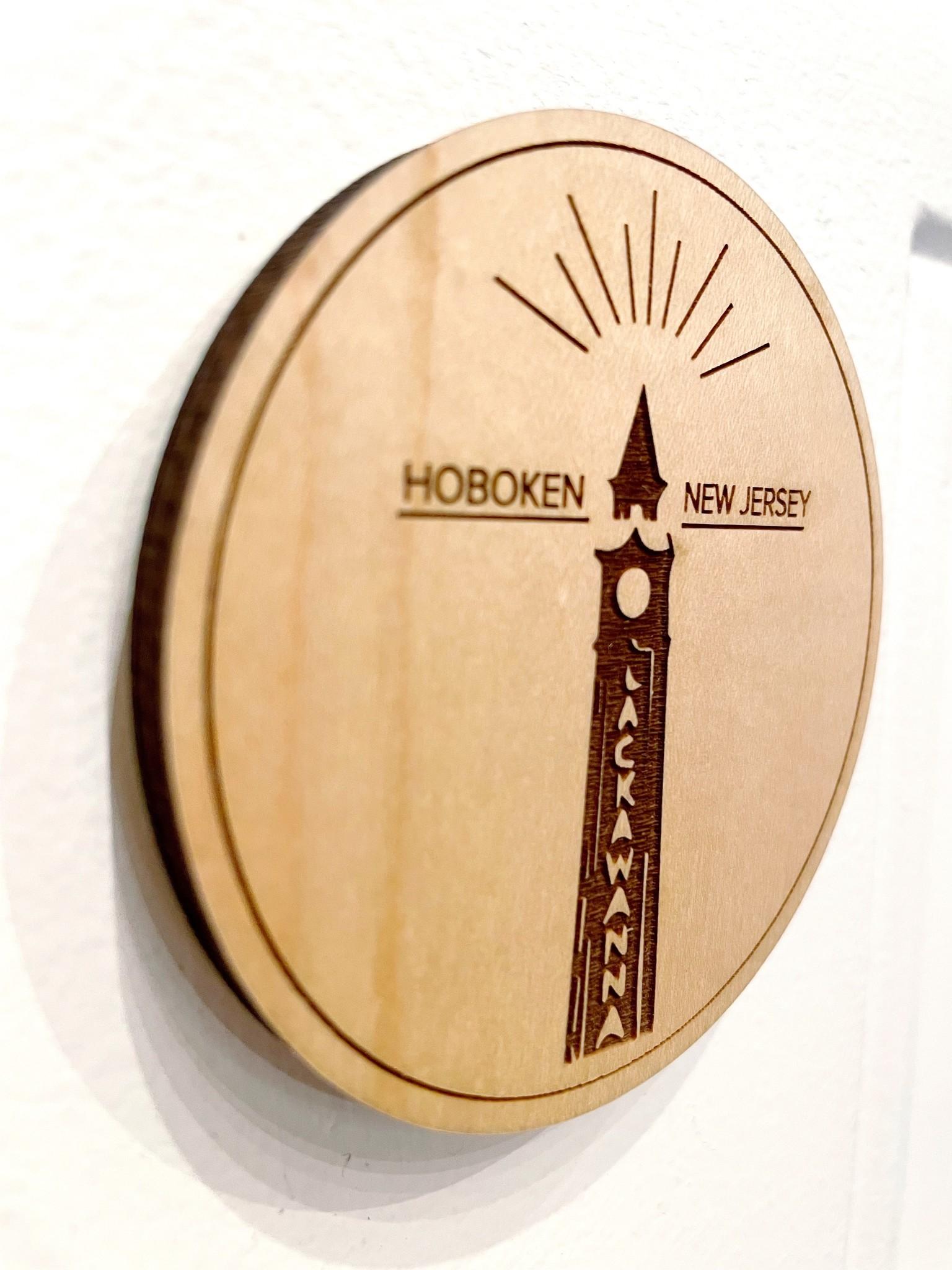 Steamer Lane Design Wooden Hoboken Magnet