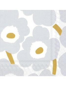 Boston International Marimekko - Unikko White Silver Paper Napkin