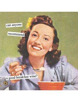 Boston International Anne Taintor - Breakfast Wine - Paper Napkin