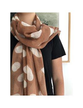 See Design Wool Scarf: Big Cheetah - Camel