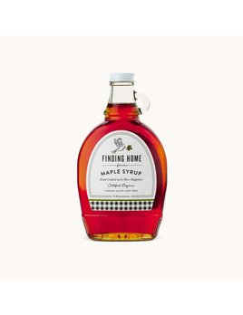 Finding Home Farms Organic Maple Syrup 12oz Decorative Bottle