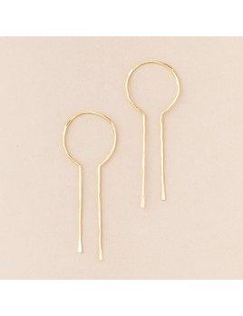 Scout Curated Wears Equinox  Keyhole Hoop Gold Vermeil