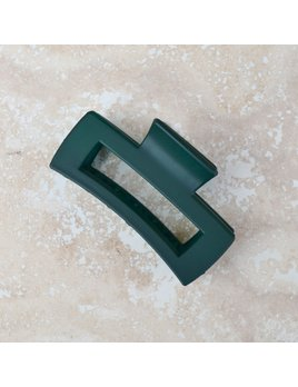 Tiepology Big Size Long Square Hair Clip - Dark Green