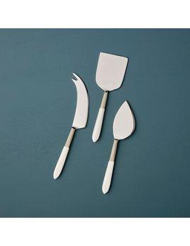 Be Home Dove Aluminum & Enamel Cheese Set
