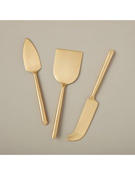 Be Home Matte Gold Cheese Set in Gift Box