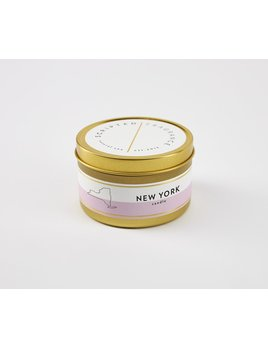 Scripted Fragrance New York Soy Candle - Large Gold Tin