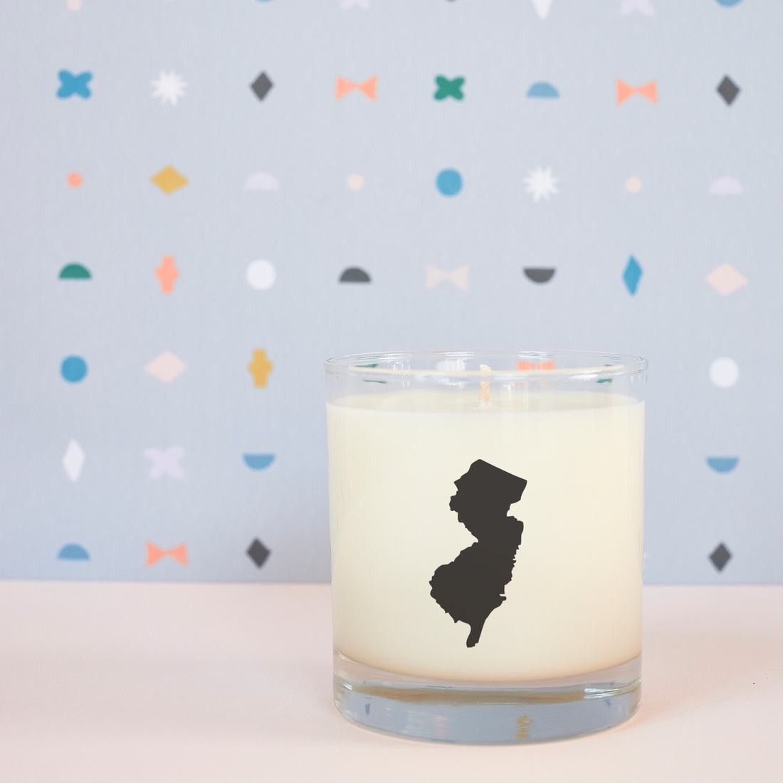 Scripted Fragrance New Jersey Soy Candle - Reusable Signature Glass