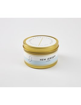 Scripted Fragrance New Jersey Soy Candle - Large Gold Tin