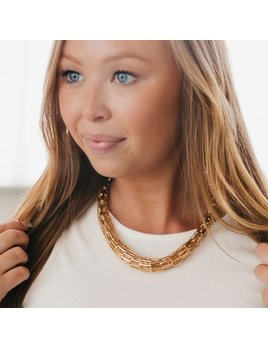 Pretty Simple Chelsea Chunky Gold Necklace