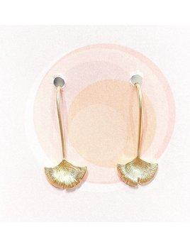 Delilah Studios Ginko Leaf Threader Earring