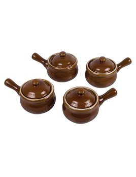 Harold Import Company Onion Soup w/ Lid - Set of 4