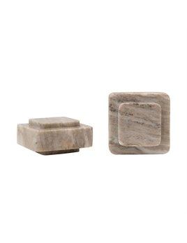 Bloomingville Marble Bookends, Beige - Set of 2
