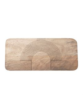 Bloomingville Engraved Mango Wood Cheese/Cutting Board