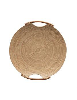 Bloomingville Bamboo Tray with Handles - Natural