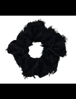 Kitsch Brunch Scrunchie - Frayed Black