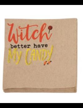 Mudpie Halloween  Kraft Paper Napkins Witch