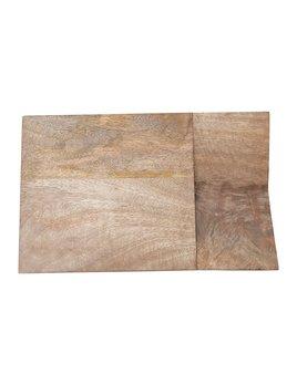 Creative Co-op Mango Wood Cheese/Cutting Board w/ Catch All Area