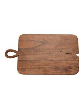 "Creative Co-op 18x10"" Acacia Wood Cheese/Cutting Board w/ Handle"