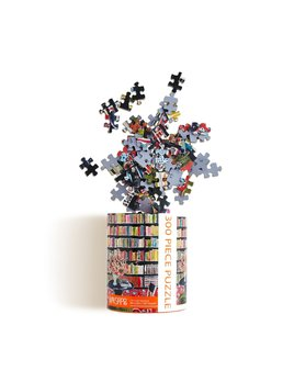 Werkshoppe Books w/ Flowers Library 300 Piece Jigsaw Puzzle