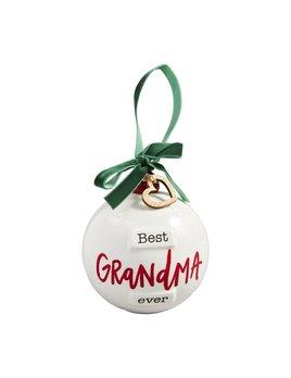 Mudpie Grandma Round Ornament