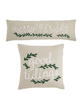 Mudpie Holiday White Berry Pillows