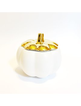 Illume Short Ceramic Pumpkin Candle Heirloom Pumpkin