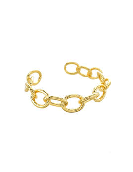Maya J Adjustable Oval Chain Link Cuff