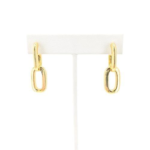 Maya J Double Chain Link Push Back Earrings
