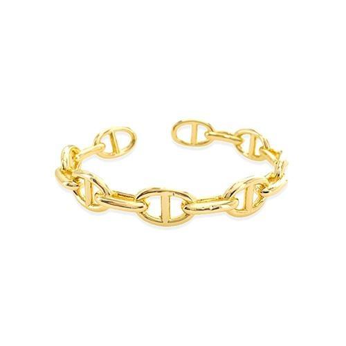 Maya J Yellow Glossy Gold Mariner Cuff