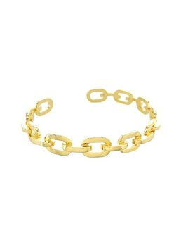 Maya J Adjustable Paperclip Chain Cuff