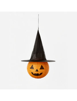 One Hundred 80 Degrees Collapsible Pumpkin w/ Witch Hat, Paper