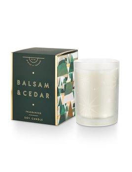 Illume Balsam & Cedar Gifted Glass Candle