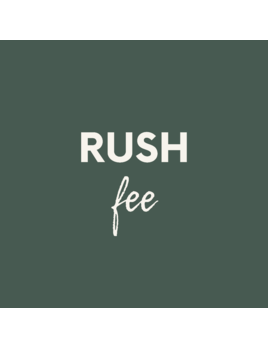 Personalized Rush Fee