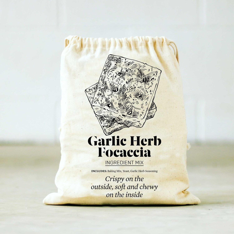 Farm Steady Garlic Herb Focaccia Baking Mix in Bag