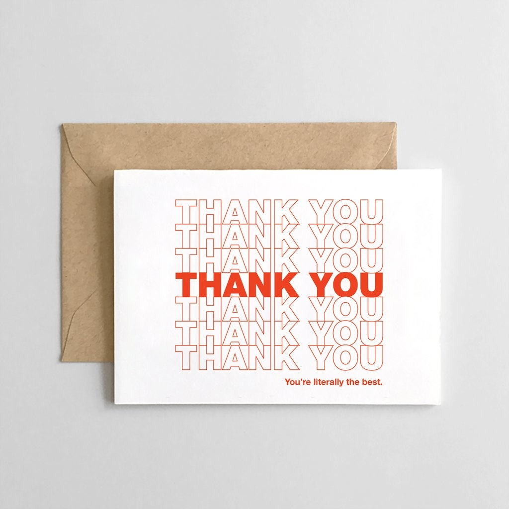 Spaghetti & Meatballs Thank You Literally The Best Set of 6 Cards