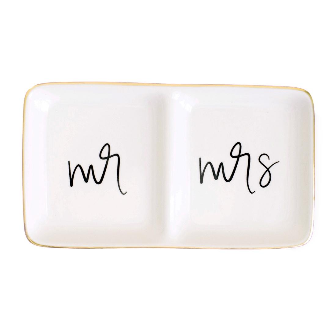Sweet Water Decor Mr & Mrs Jewelry Dish