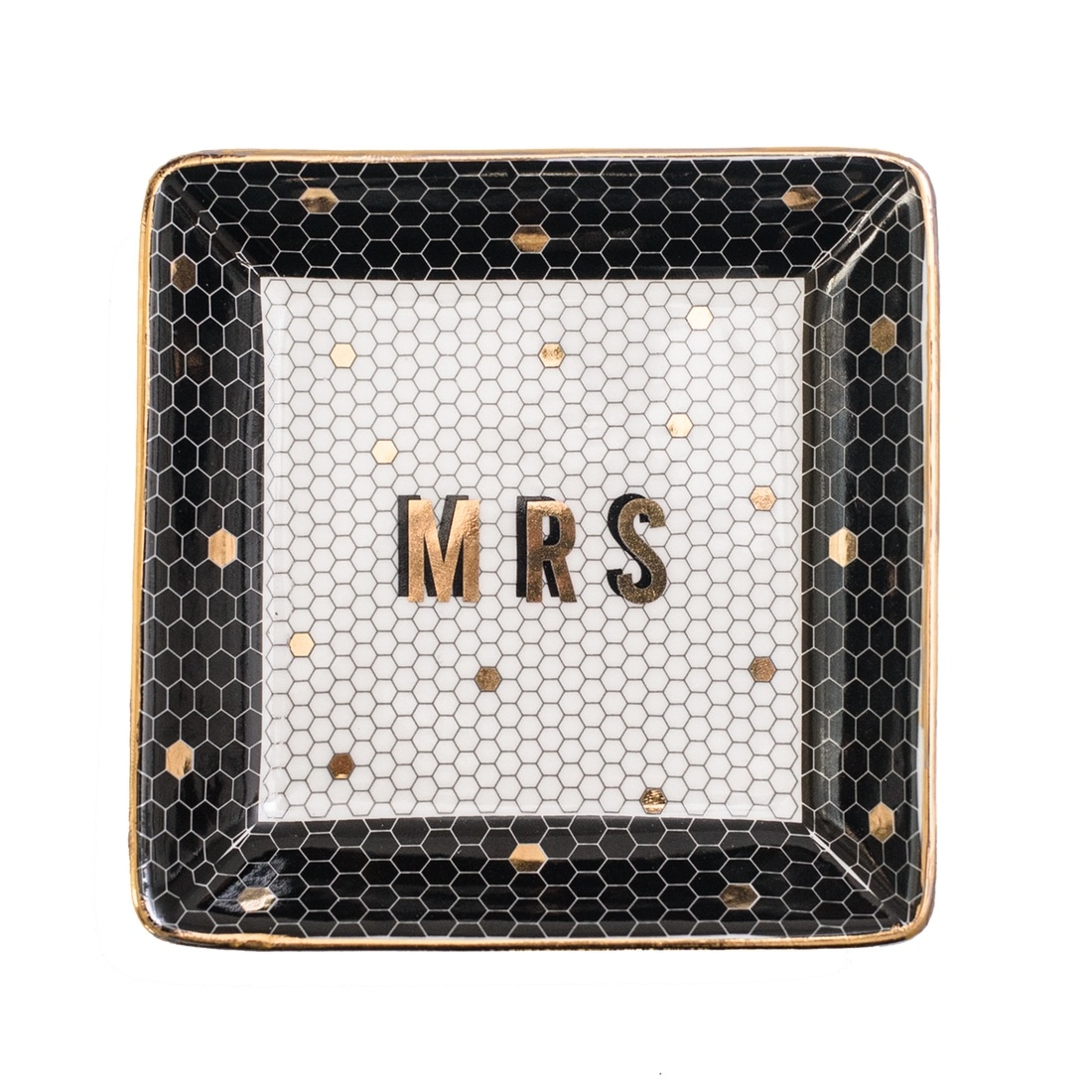 Sweet Water Decor Mrs. Tile Jewelry Dish