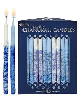 Rite Lite LTD. Premium Chanukah Candles Hand Crafted - Blue/White