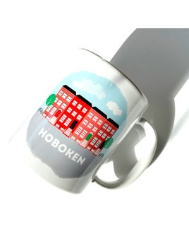 Rock Scissor Paper City Scene - Brownstones Hoboken Mug