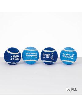 Rite Lite LTD. Chewdaica Chanukah Tennis Balls - Set of 4
