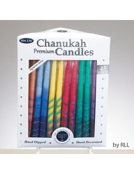 Rite Lite LTD. Premium Chanukah Candles Hand Crafted - Multi